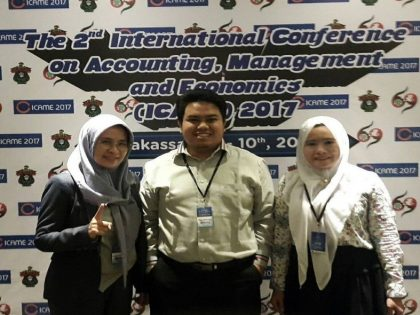 Dosen Akuntansi Menjadi Pemakalah di Acara International Conference on Accounting, Management, and Economics (ICAME 2th)