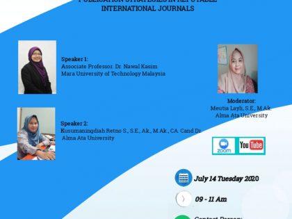 """Webinar Internasional """"Publication Strategies In Reputable International Journal"""""""