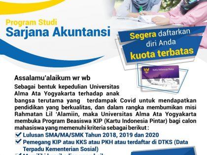 Beasiswa KIP Prodi Akuntansi Universitas Alma Ata